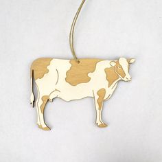 Cow Christmas Ornament by Dinosaurnaments on Etsy