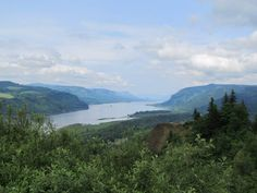 Columbia River Gorge from Vista House in Oregon.