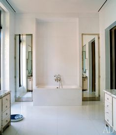 Glamorous Bathroom, Bathroom Doors, Alcove, Bathtub, Florida, Interiors, House, Ideas, Standing Bath