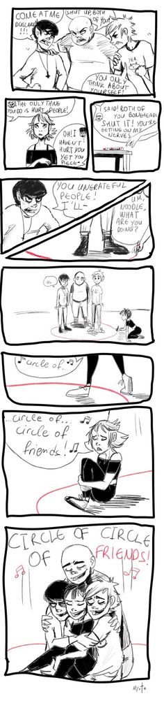 Circle of friends by Myrto1997 this is adorable