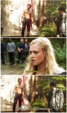 The 100 crack || tumblr - petermaximoff || Bellamy Blake and Clarke Griffin || Bob Morley and Eliza Jane Taylor || #the100 #funny