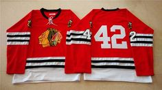 """$34.88 at """"MaryJersey""""(maryjerseyelway@gmail.com) Mitchell And Ness 1960-61 Blackhawks 42 Joakim Nordstrom Red Stitched NHL Jersey"""