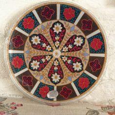 Vintage Chance Glass Serving Plate/Pilkington glass/Fiesta by MerryLegsandTiptoes on Etsy