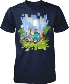 Kiditude - Minecraft Steve T Shirt $17.95 Read more: http://www.kiditude.com/catalog/kids-t-shirts/minecraft-steve-t-shirt-881.html