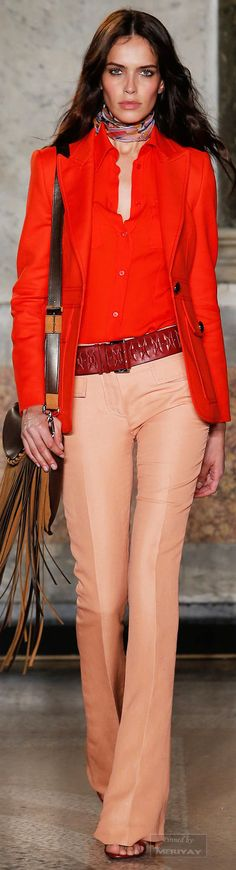 70s luxe bohemia. Emilio Pucci. Spring 2015. Love this look.