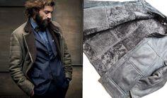 FASHION Real Fur Leather B3 Bomber Biker Flight Jacket Shearling Sheepskin Coat in Kleidung & Accessoires,…