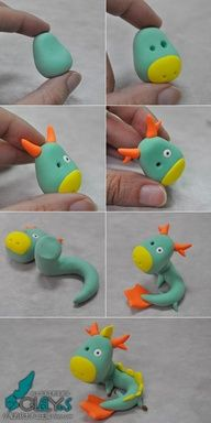 Dragon clay tutorial - could work with gumpaste