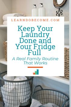 Do you get overwhelmed with your laundry? Or do you forget things that you need to buy from the store? Did you know establishing routines could be the cure to your frustration? Watch here to learn how Diy Cleaning Products, Cleaning Hacks, Fly Lady Cleaning, Real Family, Family Family, Making Life Easier, Laundry Hacks, Homekeeping, Word Families
