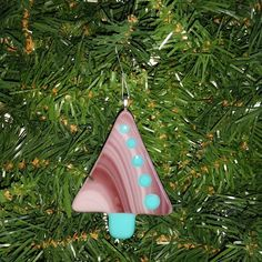 Fused Glass Christmas Tree Ornament by FiredEffects on Etsy
