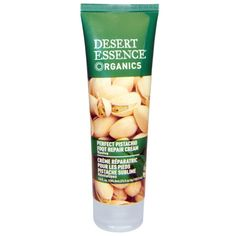 Desert Essence, Crème réparatrice à la pistache pour des pieds parfaits, ravivante, 3.5 fl oz (103,5 ml)