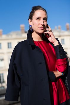 The Sartorialist.  Love the red and black.