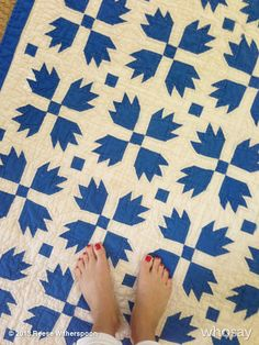 """Reese Witherspoon's photo """"Check out my new/old quilt"""