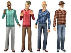 Mod The Sims - Casual Outfits with Sneakers - Everyday for EM