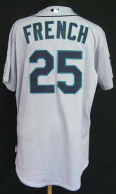 546e227a5 2011 Seattle Mariners Luke French  25 Game Issued Gray Road Jersey Dave  Patch - Game Used MLB Jerseys by Sports Memorabilia.  156.13.