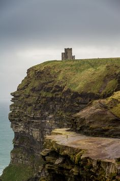 O'Brien's Tower, the highest point of the Cliffs of Moher in County Clare, Ireland