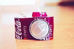 Decorative camera made from a can Youtube Bethany Mota diy room decorations using water bottles and soda cans for tutorial