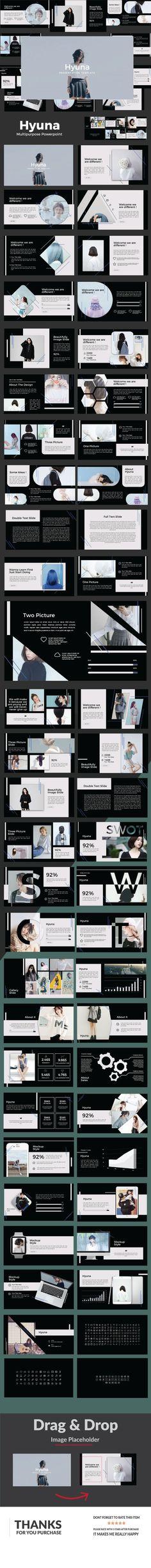 #Hyuna Multipurpose #Powerpoint - Creative PowerPoint Templates