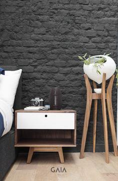 GAIA Design contemporáneo minimal blanco interiorismo plantas macetas accesorios buro mesa de noche dormir recamara