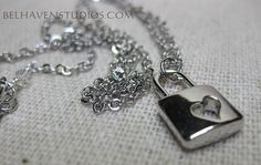 Modern simple minimalist jewelry-Silver heart by BelhavenStudios