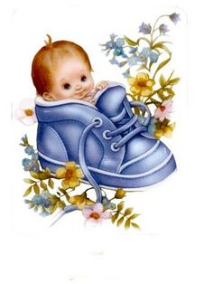 Baby Boy in a Blue Shoe.Nothing Cuter! Baby Images, Baby Pictures, Cute Pictures, Image 3d, Boy Cards, Cute Clipart, Baby Art, Baby Scrapbook, Pretty Baby