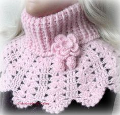 Crochet  Capelet  Poncho Shawl Wrap Women Pink by GalinaHandmade, $45.00