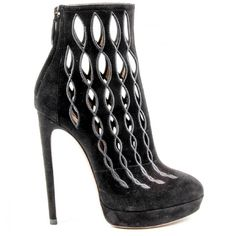 Alaia Womens Ankle Boot ($1,320) ❤ liked on Polyvore featuring shoes, boots, ankle booties and black