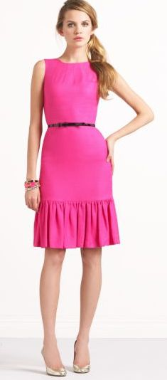 new Kate Spade dress... this is bright enough to get you noticed