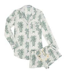 NEW - Desmond & Dempsey Howey Cotton Short Pyjamas - Fortnum & Mason