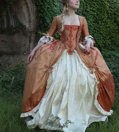 Late 18th Century, French Court Gown by Grace Mimbs, via Behance