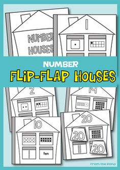 Number Flip Flap Houses - Cut and Paste Worksheets $