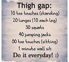 Don't need a thigh gap to be pretty, just posting it for people who really want it