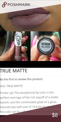 True Matte Stay On Millbrook Lipstick Apply and no need to reapply. Lasts up to 8 hours. Apply correctly. Once it dries in a seconds it's on. Pass finger on lips. No smears. Great product for the price Nickak New York Makeup Lipstick
