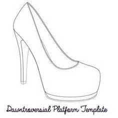 High Heel Paper Shoe Template Bing Images Paper Shoes Shoe Template Heels