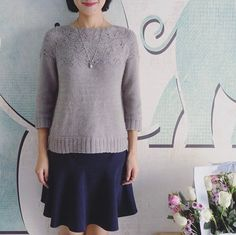 Sibella Pullover knit in The Fibre Co. Road to China Light. Juanahu. #thefibrecompany • Instagram photos and videos