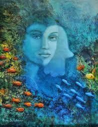 SERIES DE BELLAS PINTURAS: RINA SUTZKEVER Erin Hanson, Selling Art Online, Online Art, Paintings For Sale, Original Paintings, Ondine, Magic Realism, Jewish Art, Hamsa