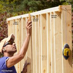 Keep Shed Framing Straight - A good carpenter is constantly working to keep all…