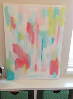 danielle oakey interiors: DIY Abstract Art Tutorial