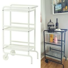 Ikea Sunnersta hack. Bar cart! #ikeahack