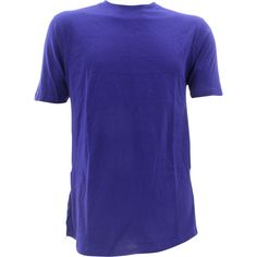 Road Block - Men's Short Sleeve Scallop Bottom T-Shirts - Purple