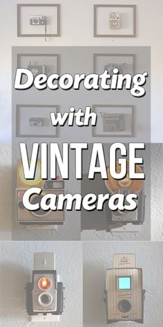 Decorating with Vintage Cameras. Adorable stuff. @Alli