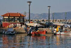 Colorful boats at Skopelos, Greece ~ photo by Finn Lyngesen flfoto.dk