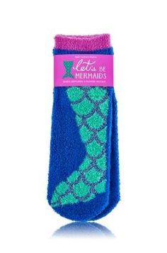 Let's Be Mermaids - Shea-Infused Lounge Socks - Bath & Body Works - Fun & flirty! Treat your toes to super-soft socks, infused with rich, hydrating Shea Butter. Plus, a cute mermaid design with a flash of metallic thread gives your feet a seaworthy makeov
