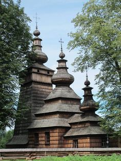 Greek - Catholic Church in Kwiatoń, Poland. The example of Lemko architecture.