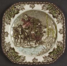 Johnson Brothers Friendly Village, The (Christmas) Square Accent Salad Plate