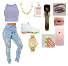 """"""""""" by kekecardoza ❤ liked on Polyvore featuring NIKE, Free People, Coach, Narciso Rodriguez, Sephora Collection, Michael Kors, women's clothing, women's fashion, women and female"""