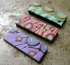 6-hole polymer clay bead spacers /   Cuff Beads
