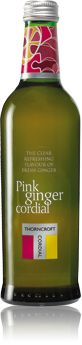 Pink Ginger cordial