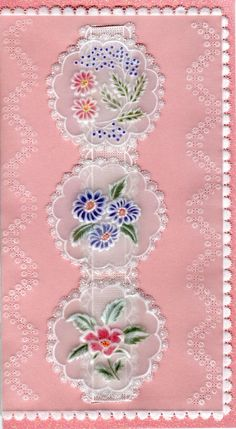 Ribbons and Flowers. - Wendy Schultz ~ Cards 1.