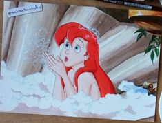 Handmade Art Prints, Paintings & Handpainted Items by TasKreations Handmade Art, Handmade Gifts, Watercolor Disney, Disney Animated Movies, Disney Animation, Ariel, Scene, Hand Painted, Art Prints