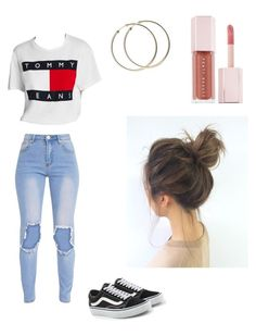 """Untitled #87"" by haileymagana on Polyvore featuring Tommy Hilfiger, Vans and Puma"